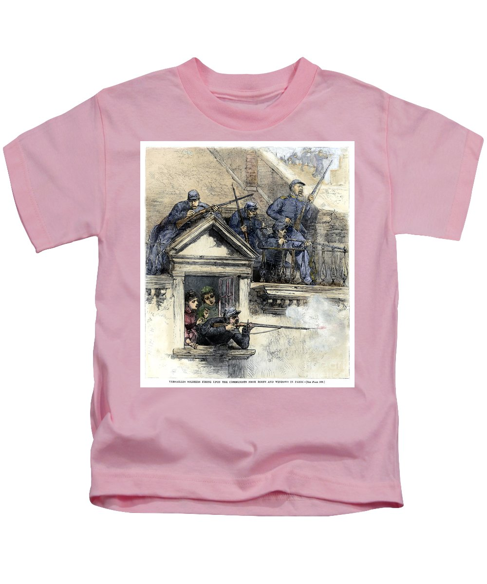 1871 Kids T-Shirt featuring the photograph Paris Commune, 1871 by Granger