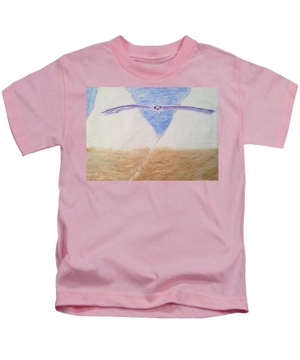 Soaring Bird Kids T-Shirt featuring the painting A Balanced View by Michael Woolcock