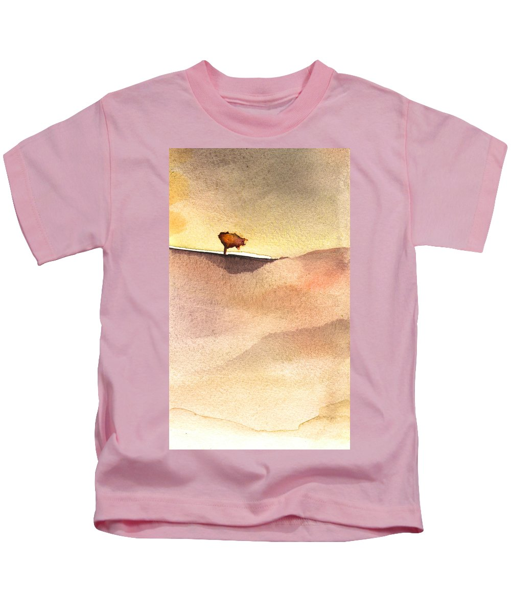 Aquarelle Kids T-Shirt featuring the painting A Tree by Miki De Goodaboom