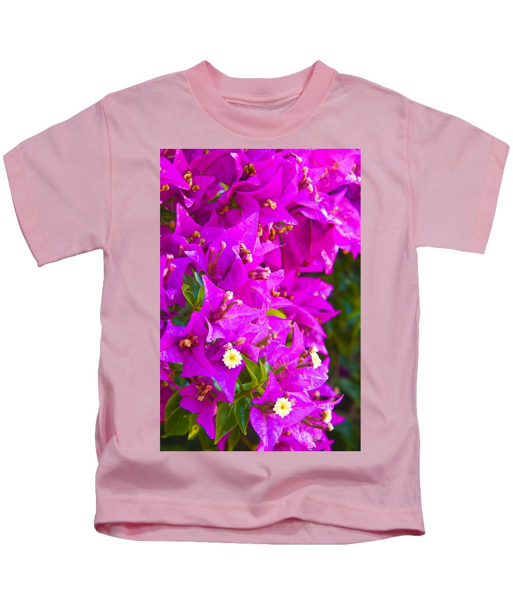 Barcelona Kids T-Shirt featuring the photograph A Wall Of Flowers by Richard Henne