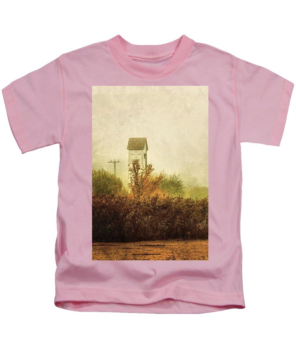 Transformer Kids T-Shirt featuring the photograph Ancient Transformer Tower by Mandy Tabatt