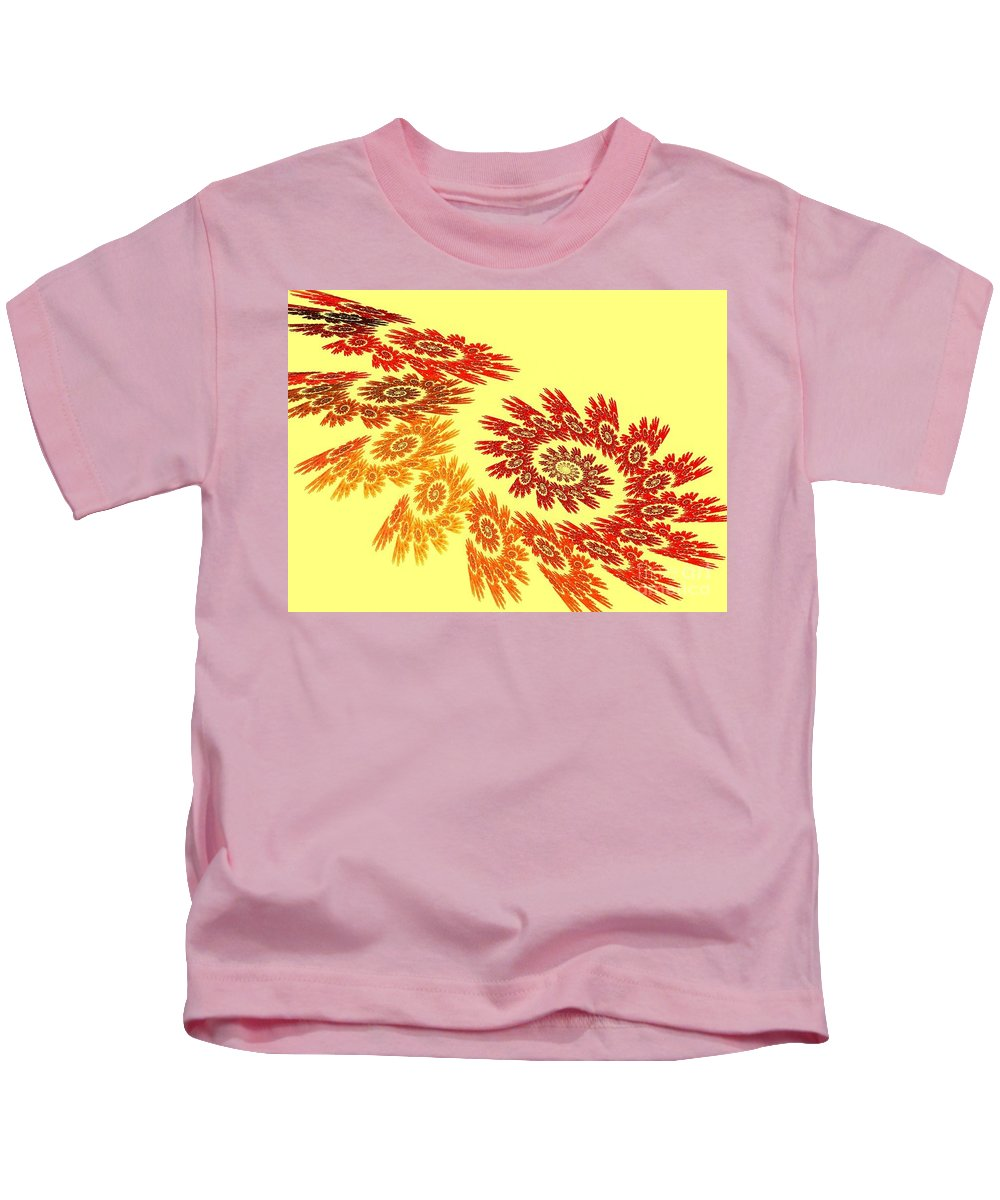 Apophysis Kids T-Shirt featuring the digital art Autumn by Kim Sy Ok