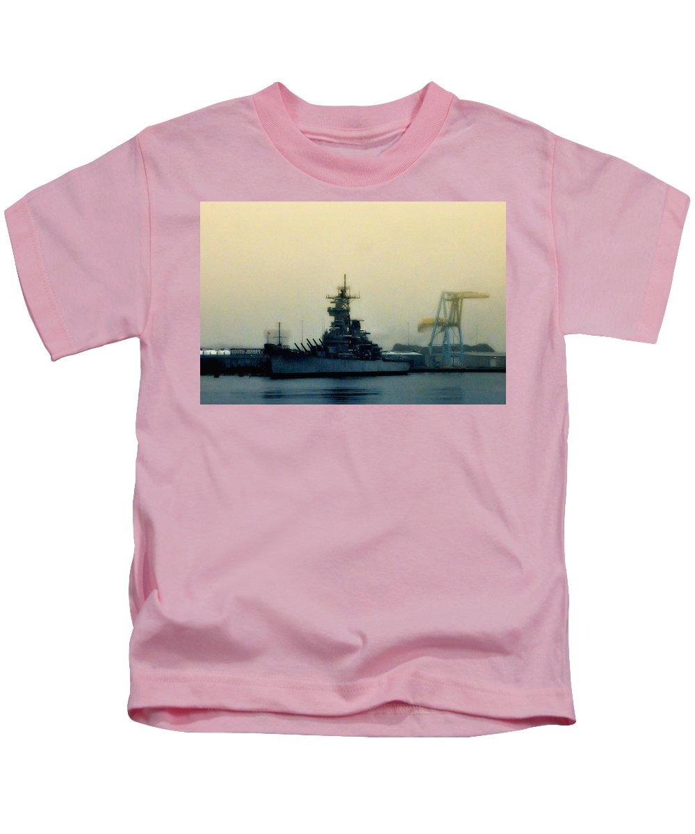Battleship New Jersey Kids T-Shirt featuring the photograph Battleship New Jersey by Bill Cannon