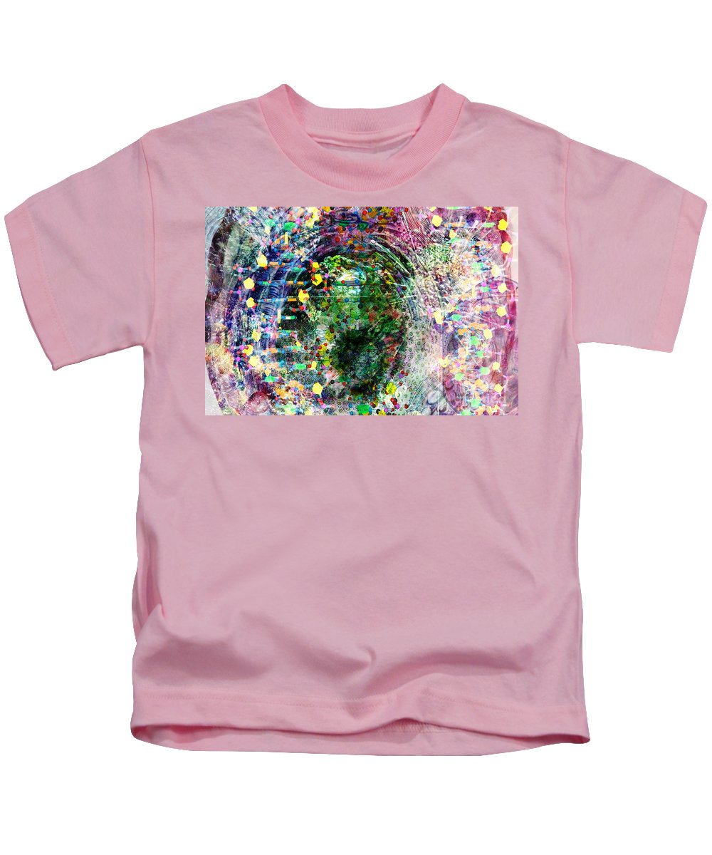 Abstract Kids T-Shirt featuring the digital art Cell Dreaming 3 by Russell Kightley