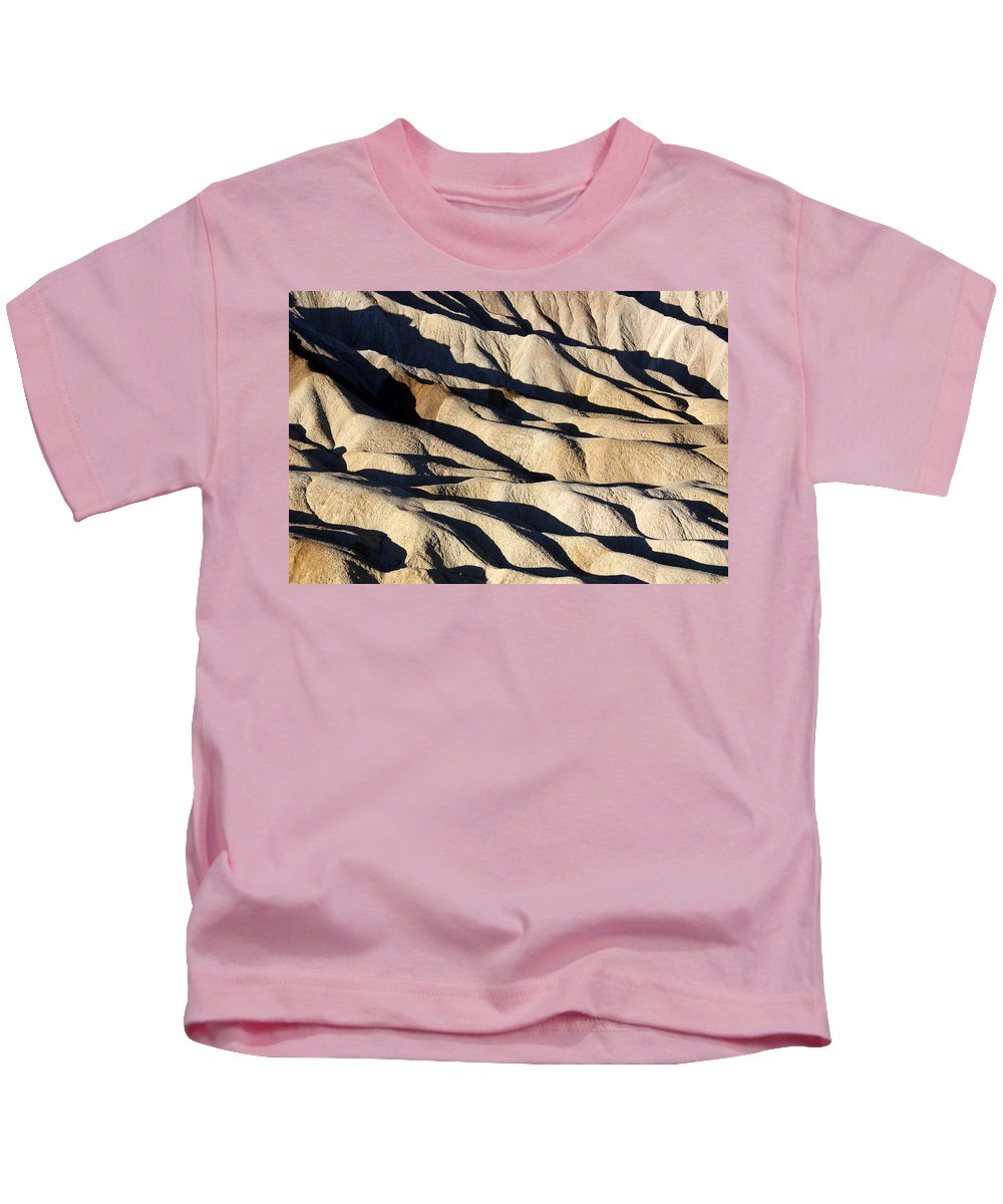 Death Valley Erosion Kids T-Shirt featuring the photograph Death Valley Erosion by Wes and Dotty Weber