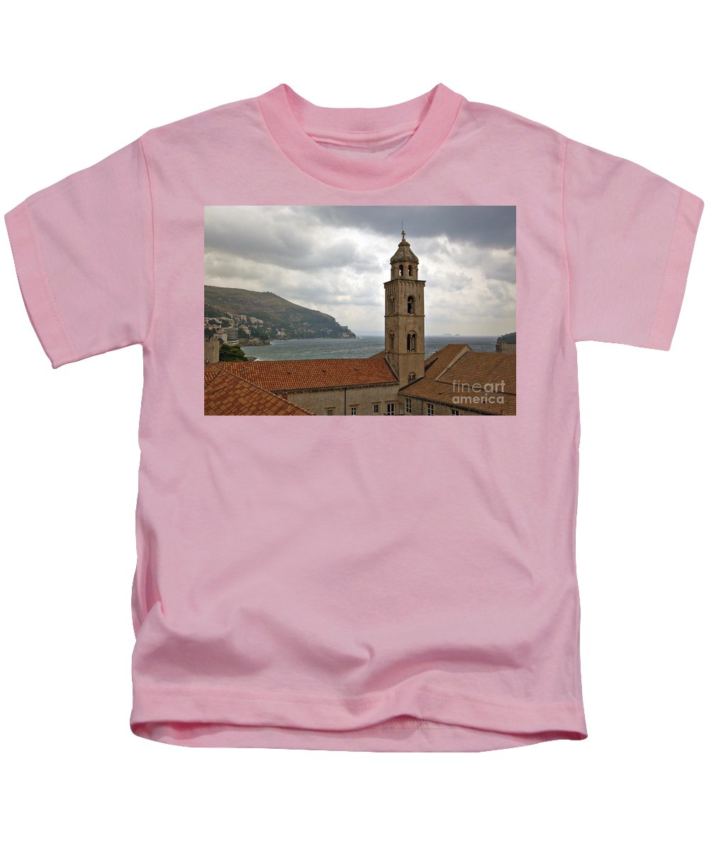 Dubrovnik Kids T-Shirt featuring the photograph Dubrovnik View 3 by Madeline Ellis