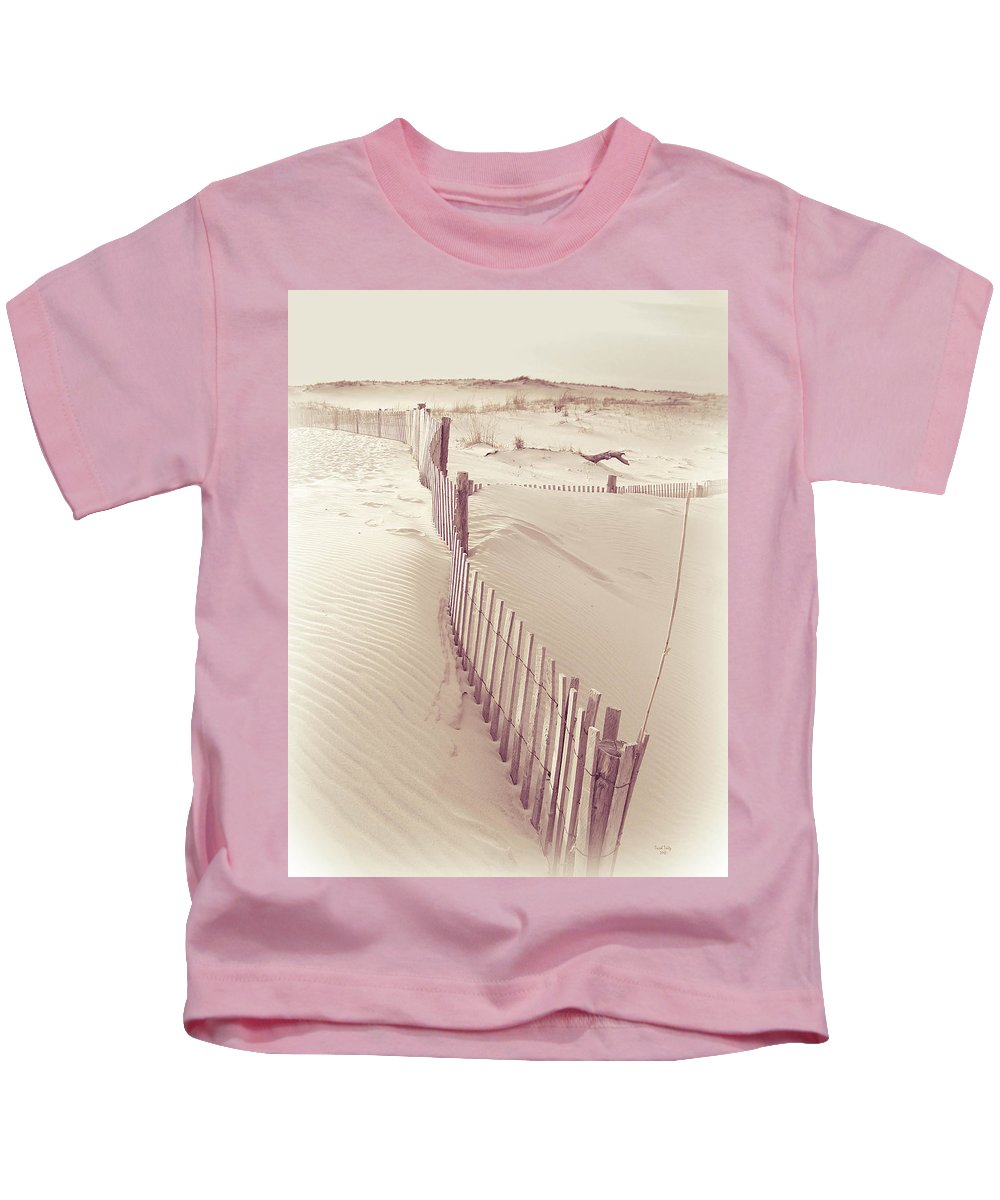Fence Kids T-Shirt featuring the photograph Dunes On The Cape by Trish Tritz