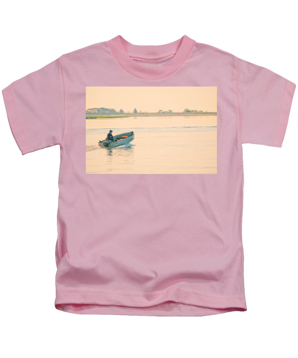 Landscape Kids T-Shirt featuring the photograph Early Start by Karol Livote