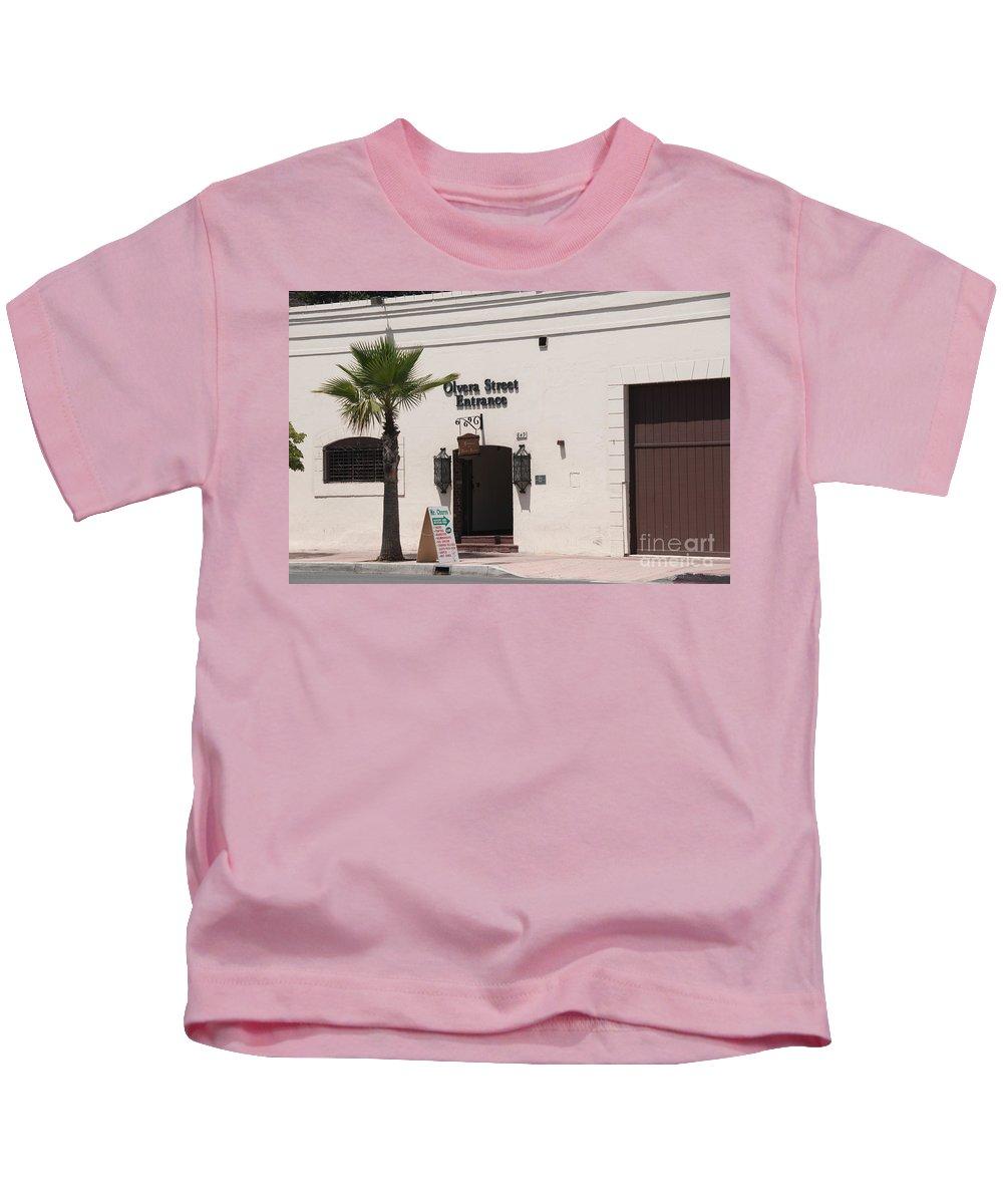 California Kids T-Shirt featuring the digital art El Pueblo De Los Angeles by Carol Ailles