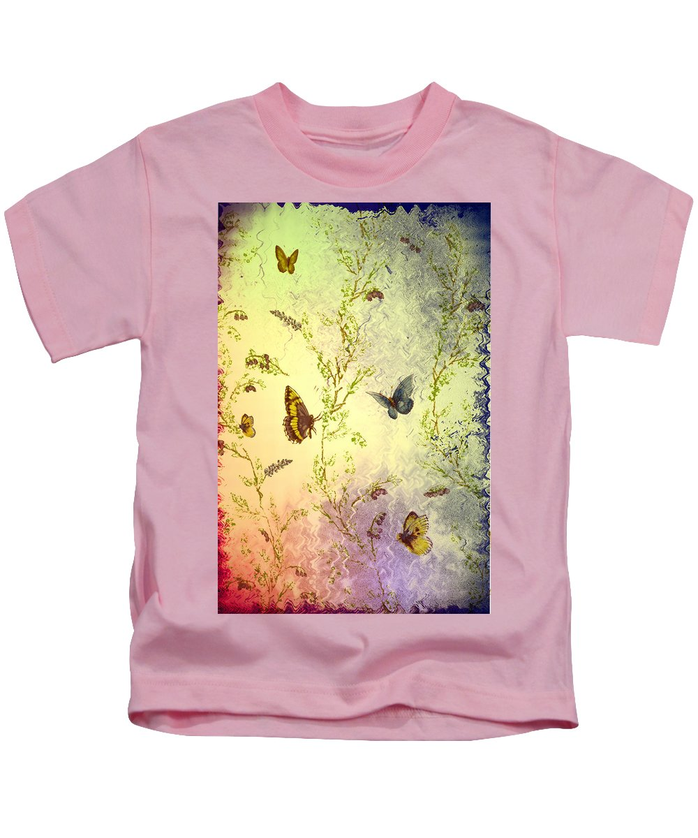 Butterfly Kids T-Shirt featuring the photograph Frolicing Butterflies by Bill Cannon