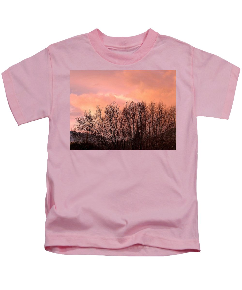 Sunset Kids T-Shirt featuring the photograph Glow Of A Winter Sunset by Will Borden