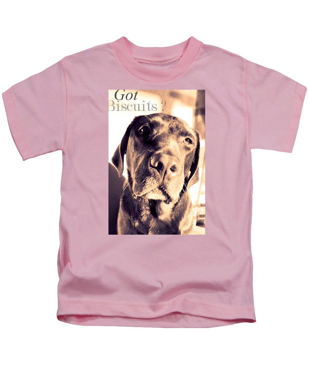 Animals Kids T-Shirt featuring the photograph Got Biscuits by Timothy Mangino