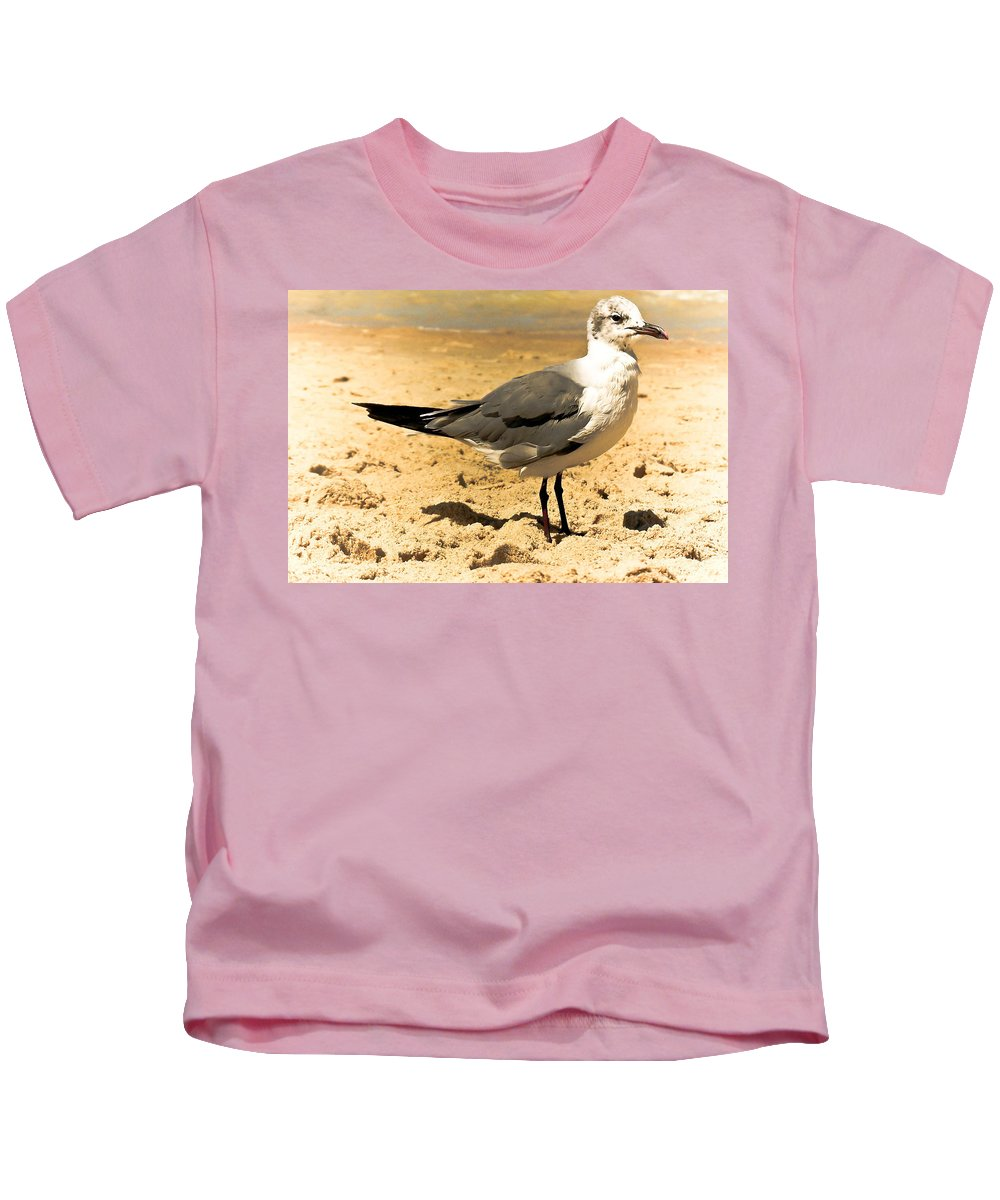 Seagull Kids T-Shirt featuring the photograph Hartnell by Trish Tritz