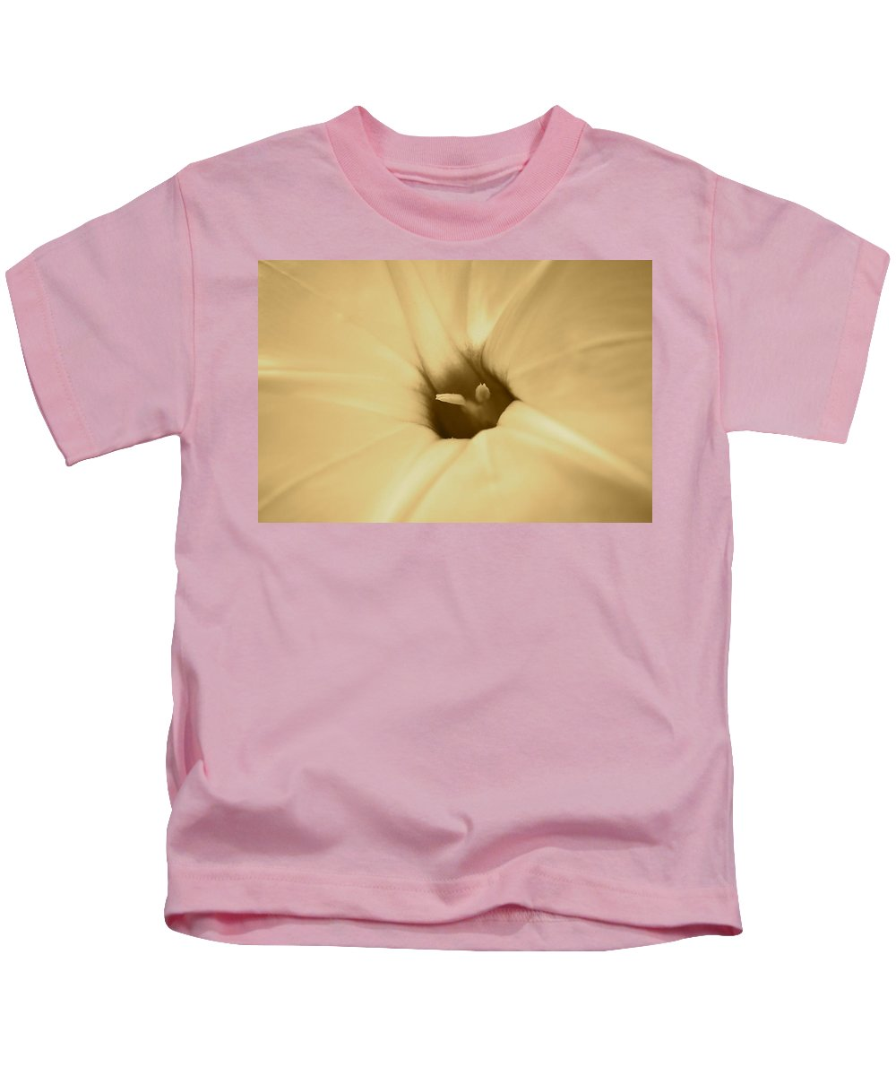 J.d. Grimes Kids T-Shirt featuring the photograph Ipomoea In Sepia by JD Grimes
