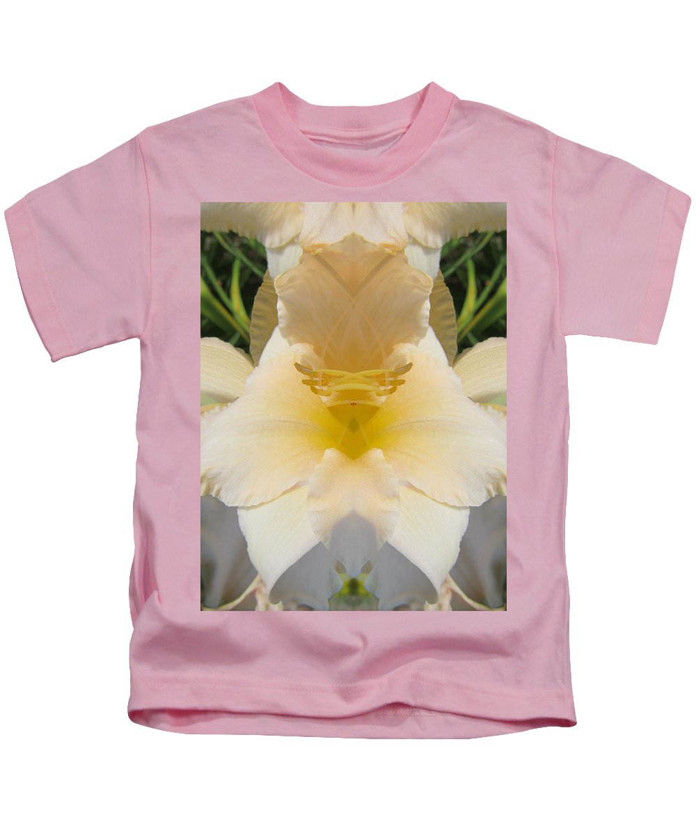 Color Blend Kids T-Shirt featuring the digital art Lily Cloud by Michele Caporaso