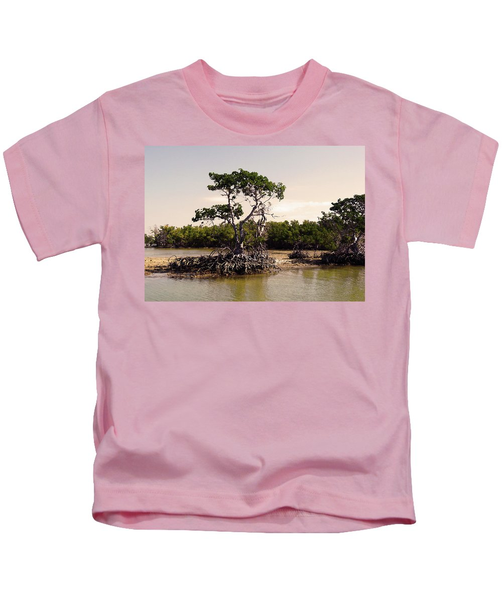 Everglades Kids T-Shirt featuring the photograph Mangroves In The Everglades by HD Hasselbarth