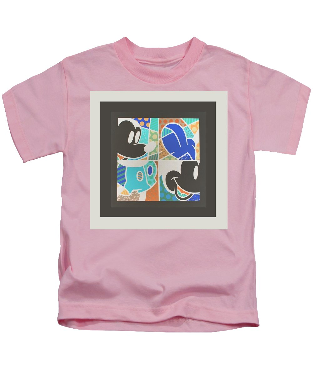 Mickey Mouse Kids T-Shirt featuring the photograph Mickey In Negative by Rob Hans