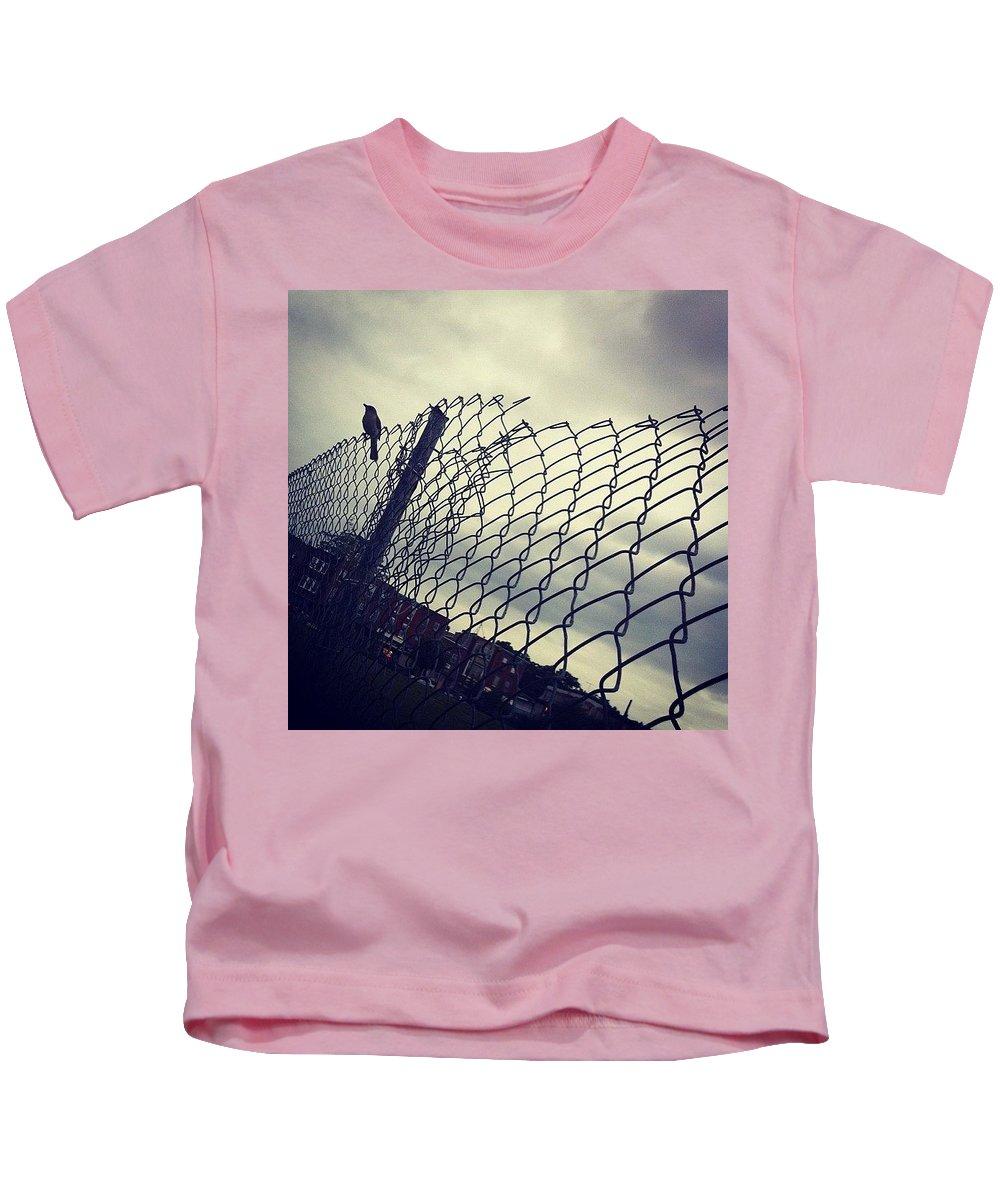 Mockingbird Kids T-Shirt featuring the photograph Mock. Yeah! Ing. Yeah! Bird. Yeah! by Katie Cupcakes