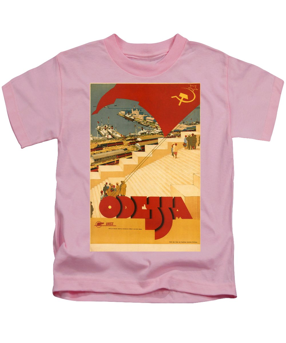 Odessa Kids T-Shirt featuring the digital art Odessa by Georgia Fowler