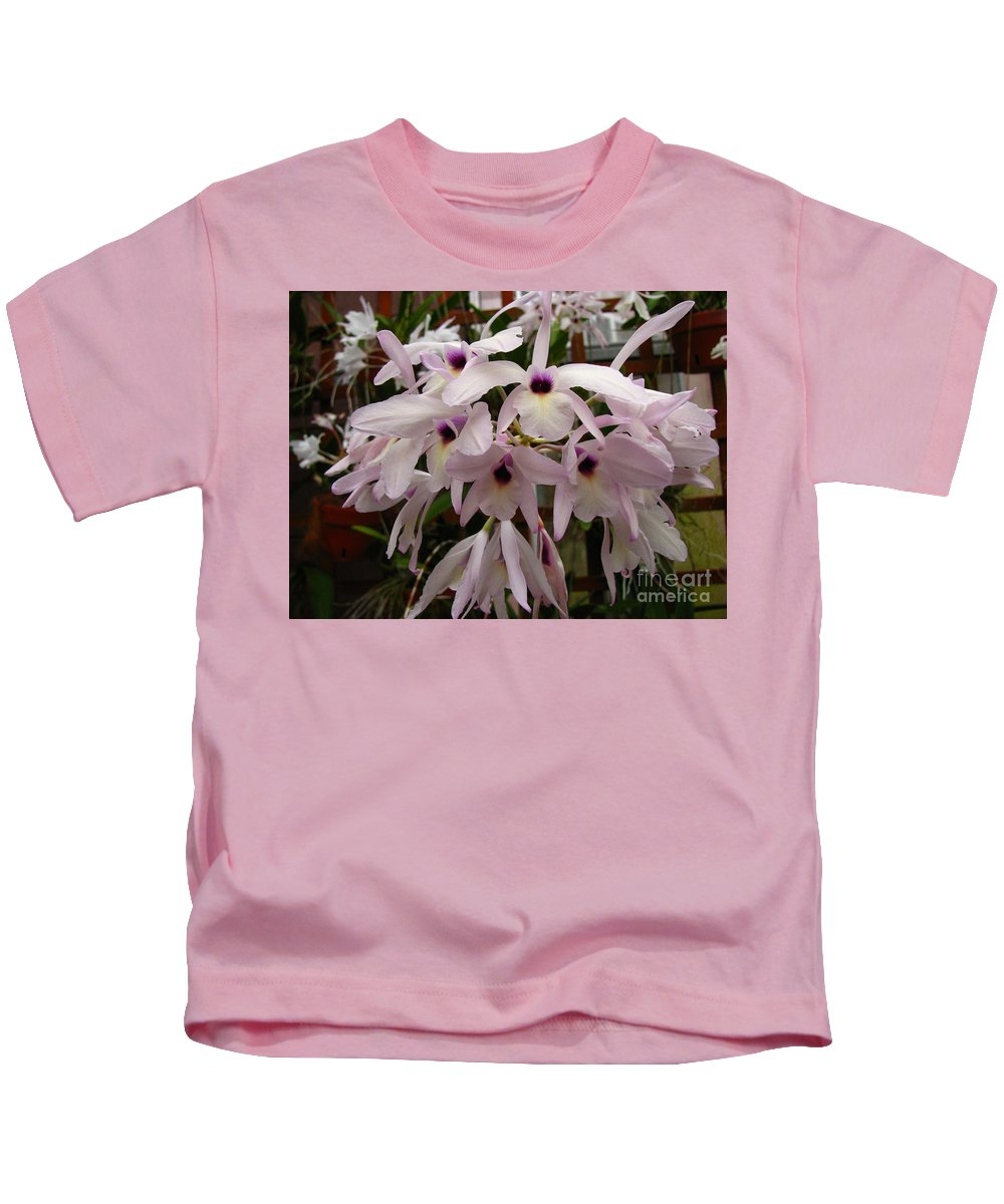 Flowers Kids T-Shirt featuring the photograph Orchids Beauty by Donna Brown