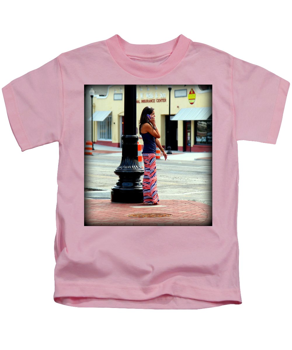 Pretty Woman Kids T-Shirt featuring the photograph Pretty Woman by Karen Wiles