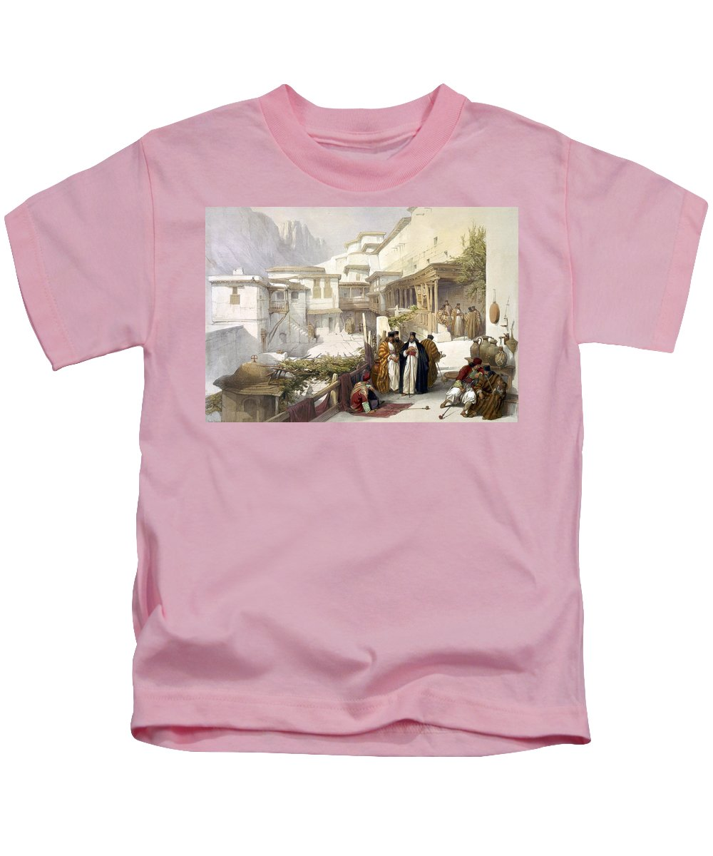 St. Catherine Kids T-Shirt featuring the photograph Principal Court Of The Convent Of St. Catherine by Munir Alawi