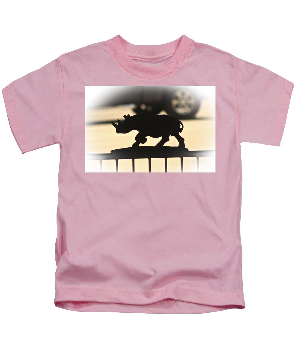 Rhino Kids T-Shirt featuring the photograph Rhino by Kim Henderson