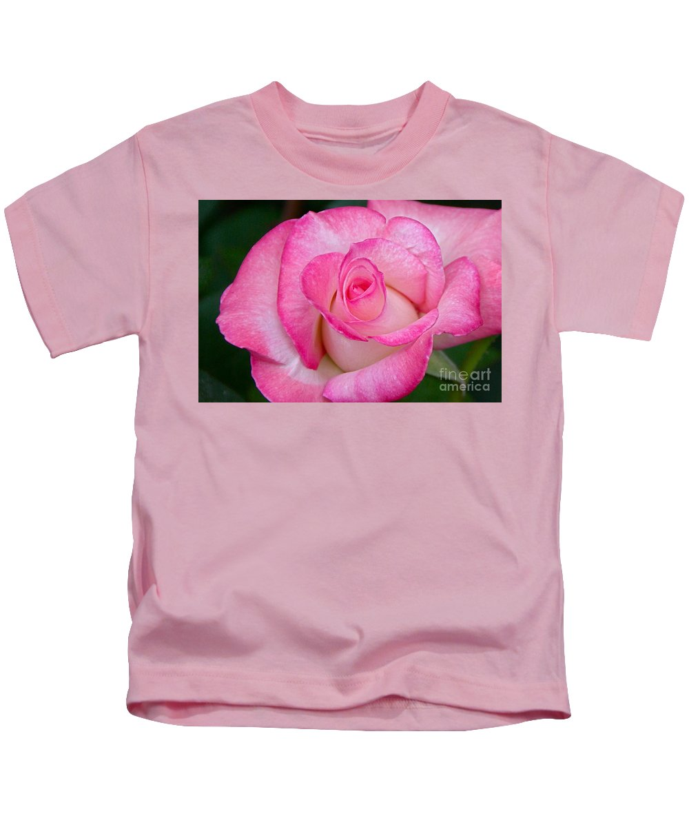 Rose Kids T-Shirt featuring the photograph Rose Macro by Byron Varvarigos