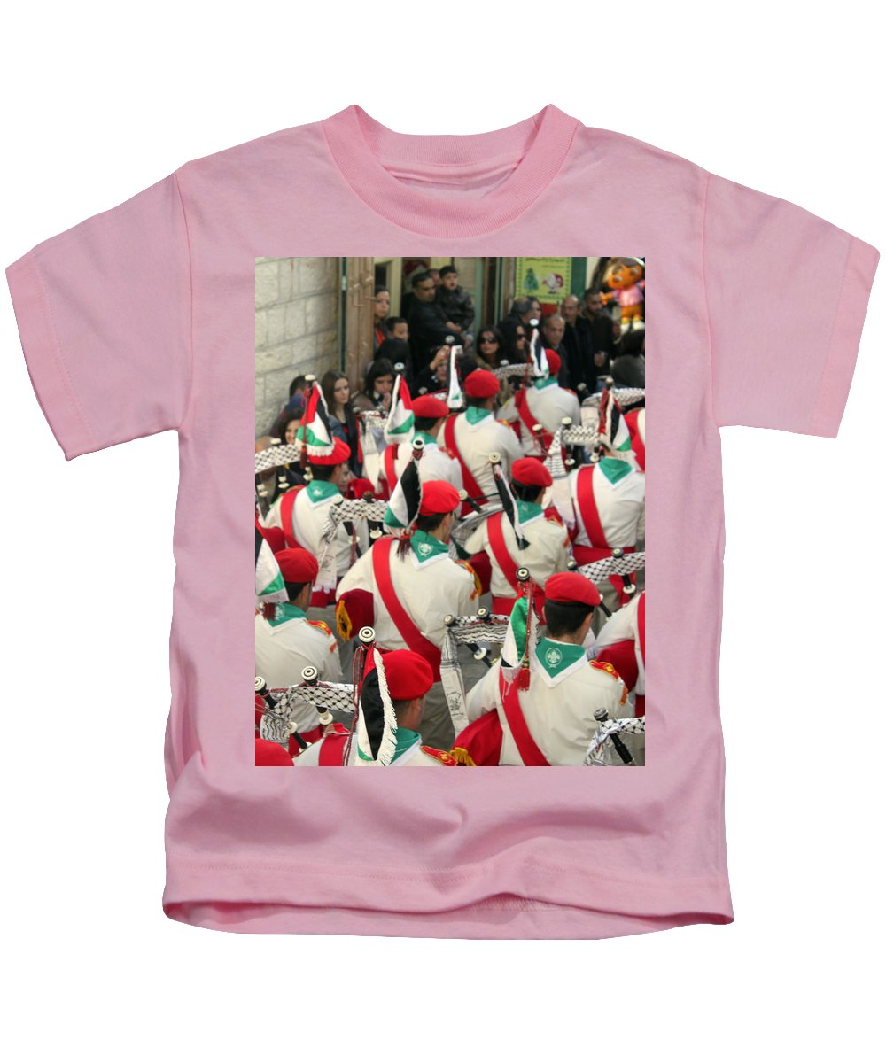 Scouts Kids T-Shirt featuring the photograph Scouts Parade by Munir Alawi