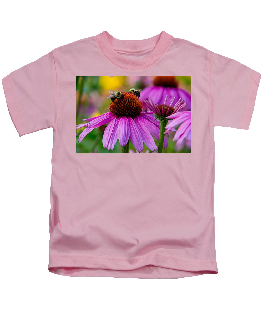Bees Kids T-Shirt featuring the photograph Sharing by Frank Pietlock