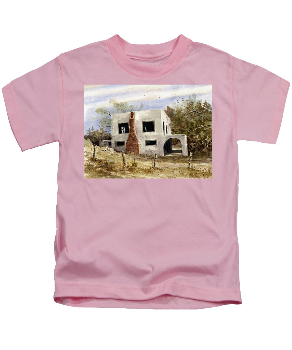House Kids T-Shirt featuring the painting Spanish Mansion by Sam Sidders