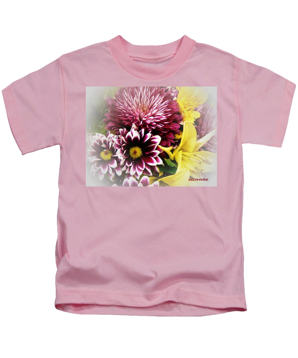 Flowers Kids T-Shirt featuring the photograph Spring Mix by Ericamaxine Price