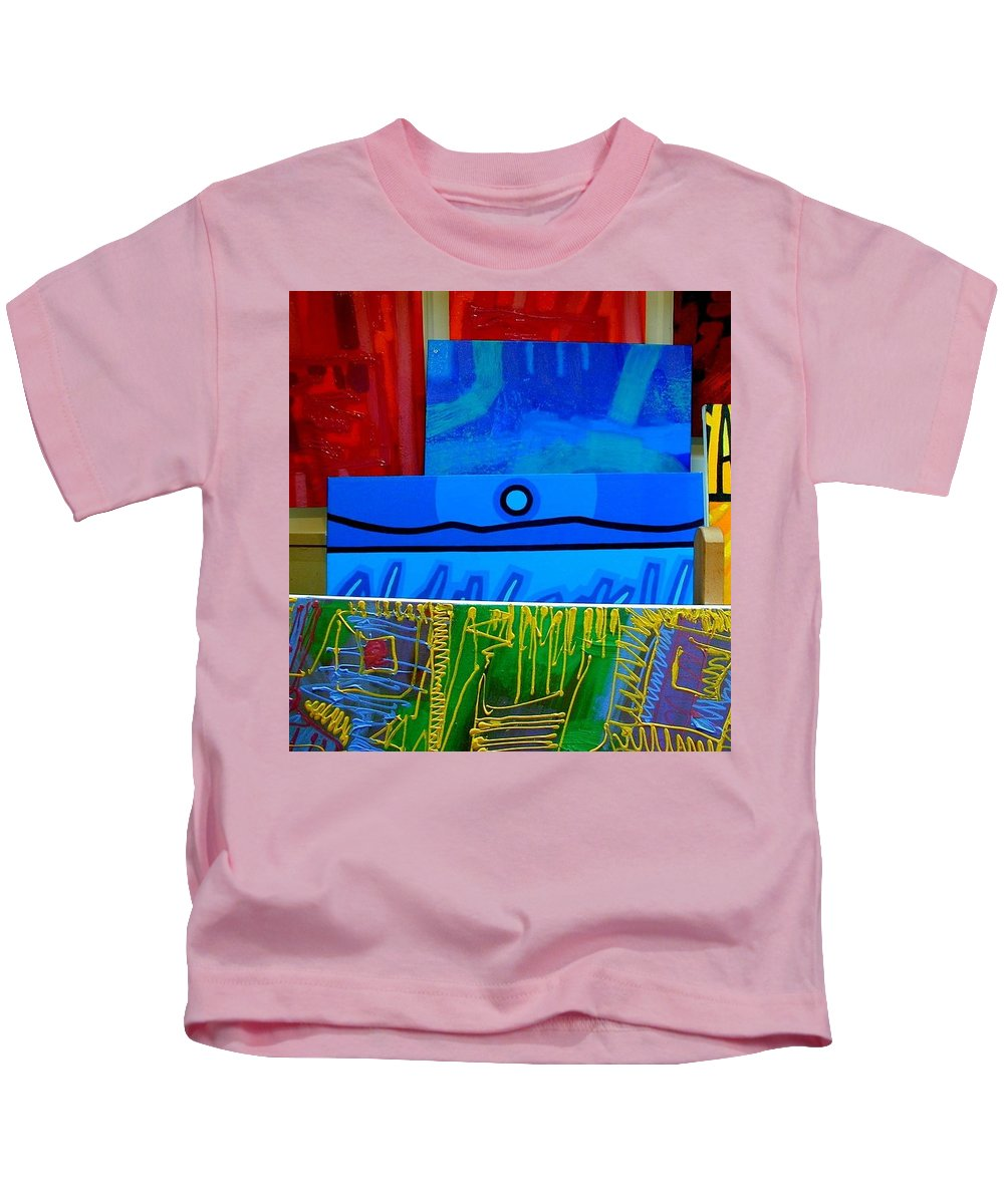Studio Kids T-Shirt featuring the photograph Painting Collage II by John Nolan