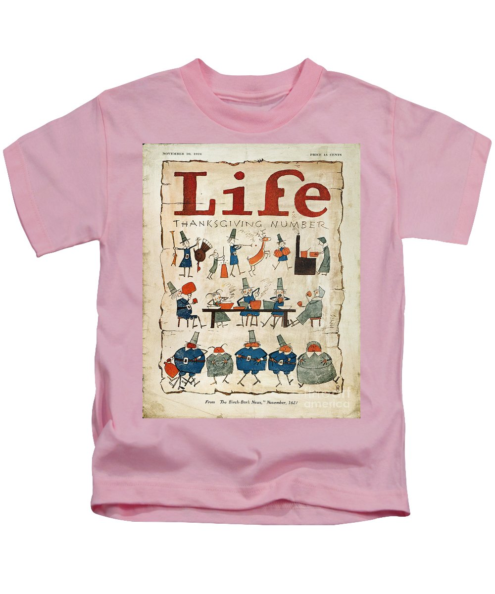1621 Kids T-Shirt featuring the photograph Thanksgiving, 1924 by Granger