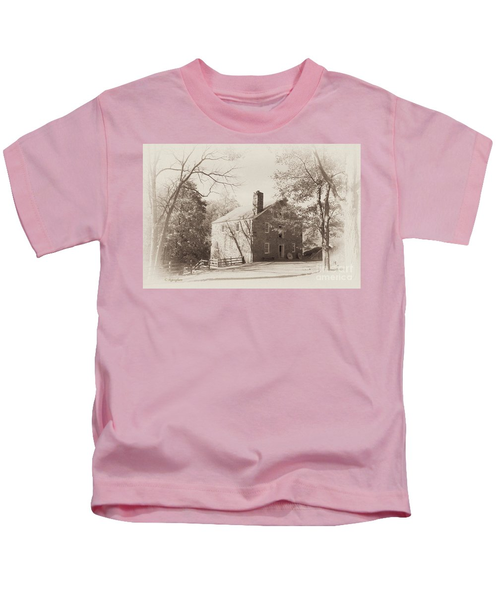 Old Mill Kids T-Shirt featuring the photograph The Old Mill by Regina Geoghan