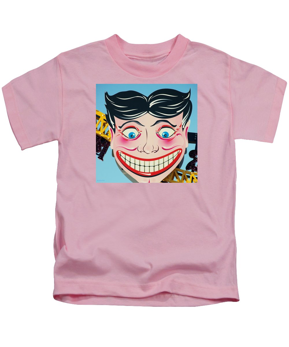 Brooklyn Kids T-Shirt featuring the photograph TILLIE THE CLOWN of CONEY ISLAND by Rob Hans