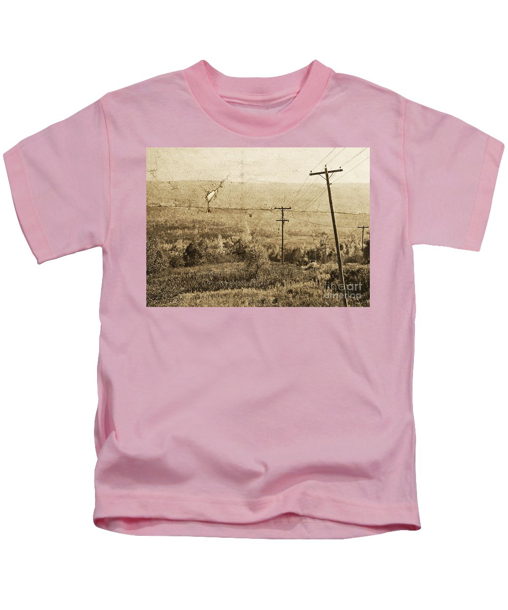 Ontario Kids T-Shirt featuring the photograph Vintage View Of Ontario Fields by Traci Cottingham
