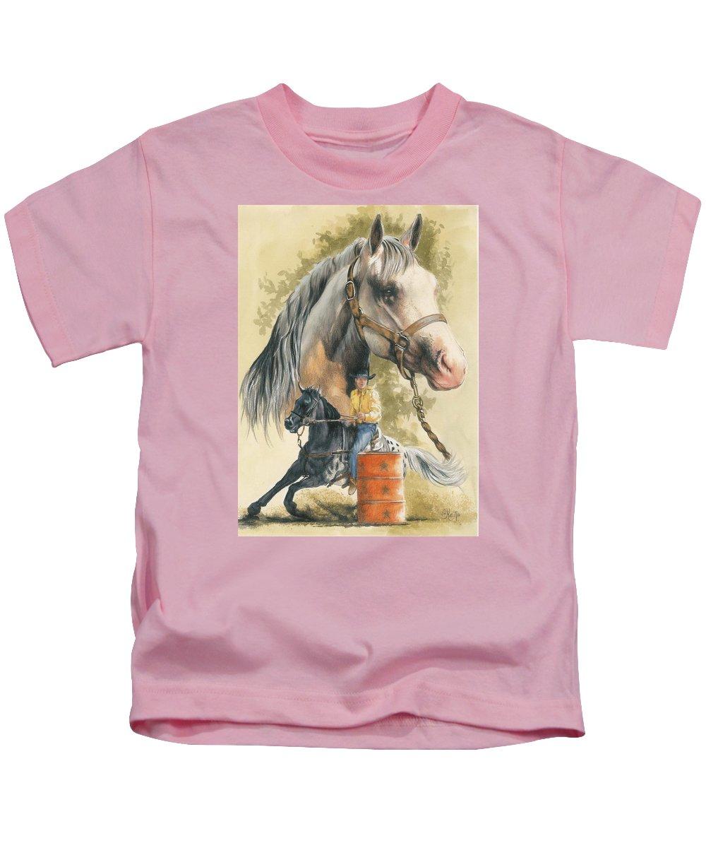 Horse Kids T-Shirt featuring the mixed media Appaloosa by Barbara Keith