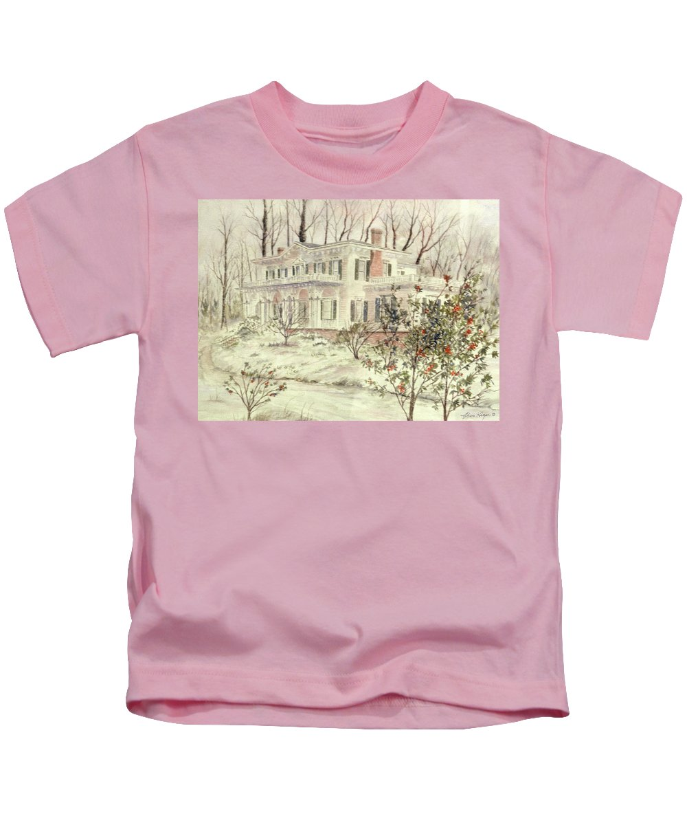 House Kids T-Shirt featuring the painting Beattie House by Ben Kiger