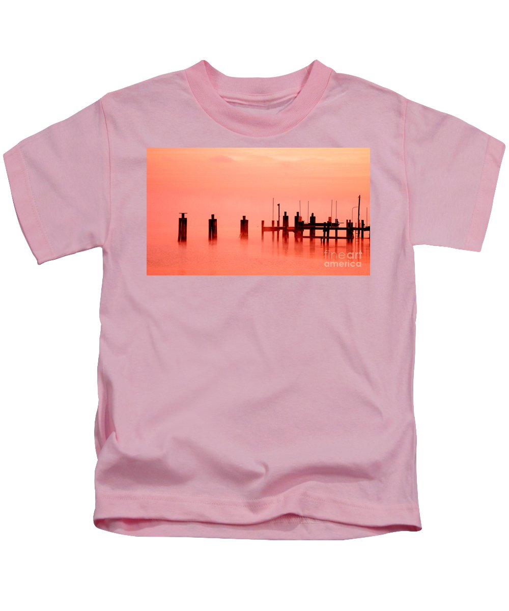 Clay Kids T-Shirt featuring the photograph Eery Morn' by Clayton Bruster