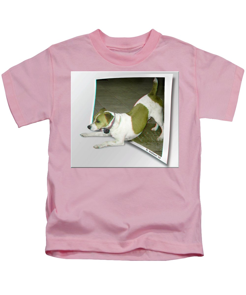 3d Kids T-Shirt featuring the photograph Feeling Frisky by Brian Wallace