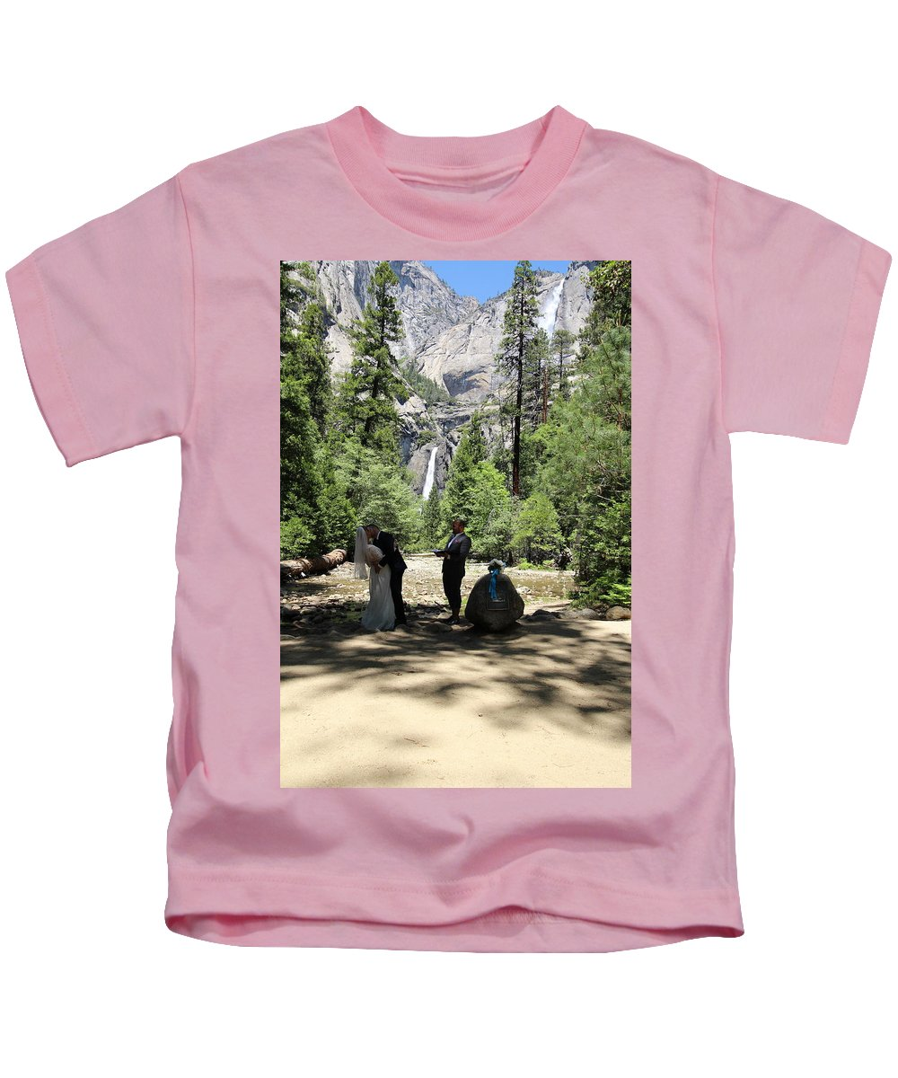 Kids T-Shirt featuring the painting Yosemite Wedding by Travis Day