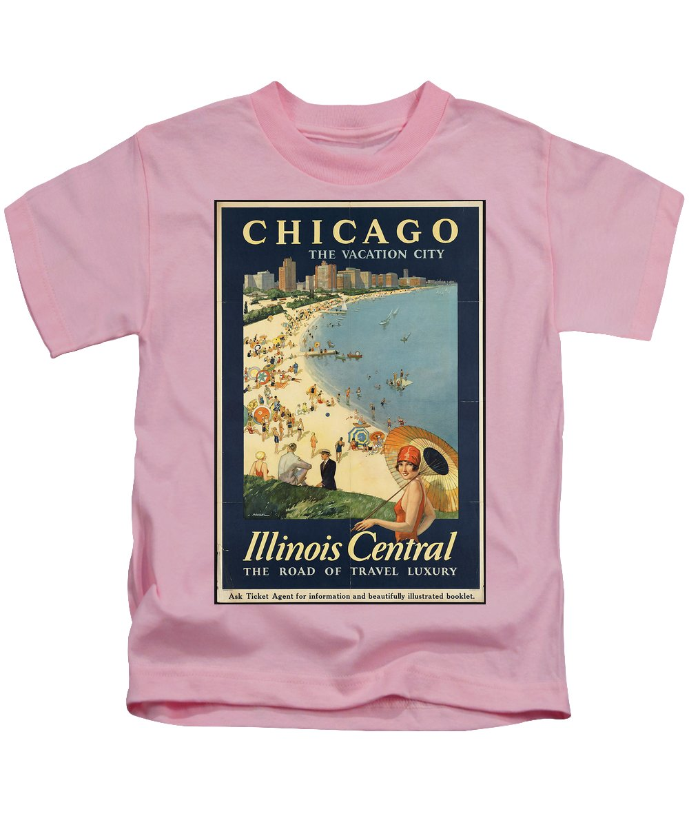 Public-domain-images-free-vintage-posters-0059 Kids T-Shirt featuring the painting Public Domain Images by MotionAge Designs