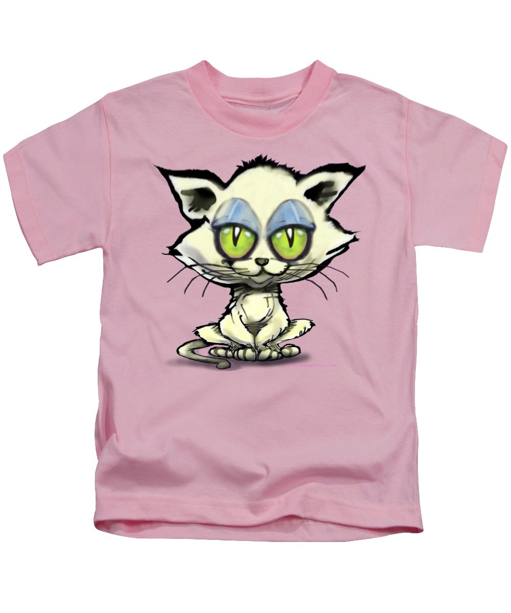 Kitten Kids T-Shirt featuring the digital art Kitten by Kevin Middleton