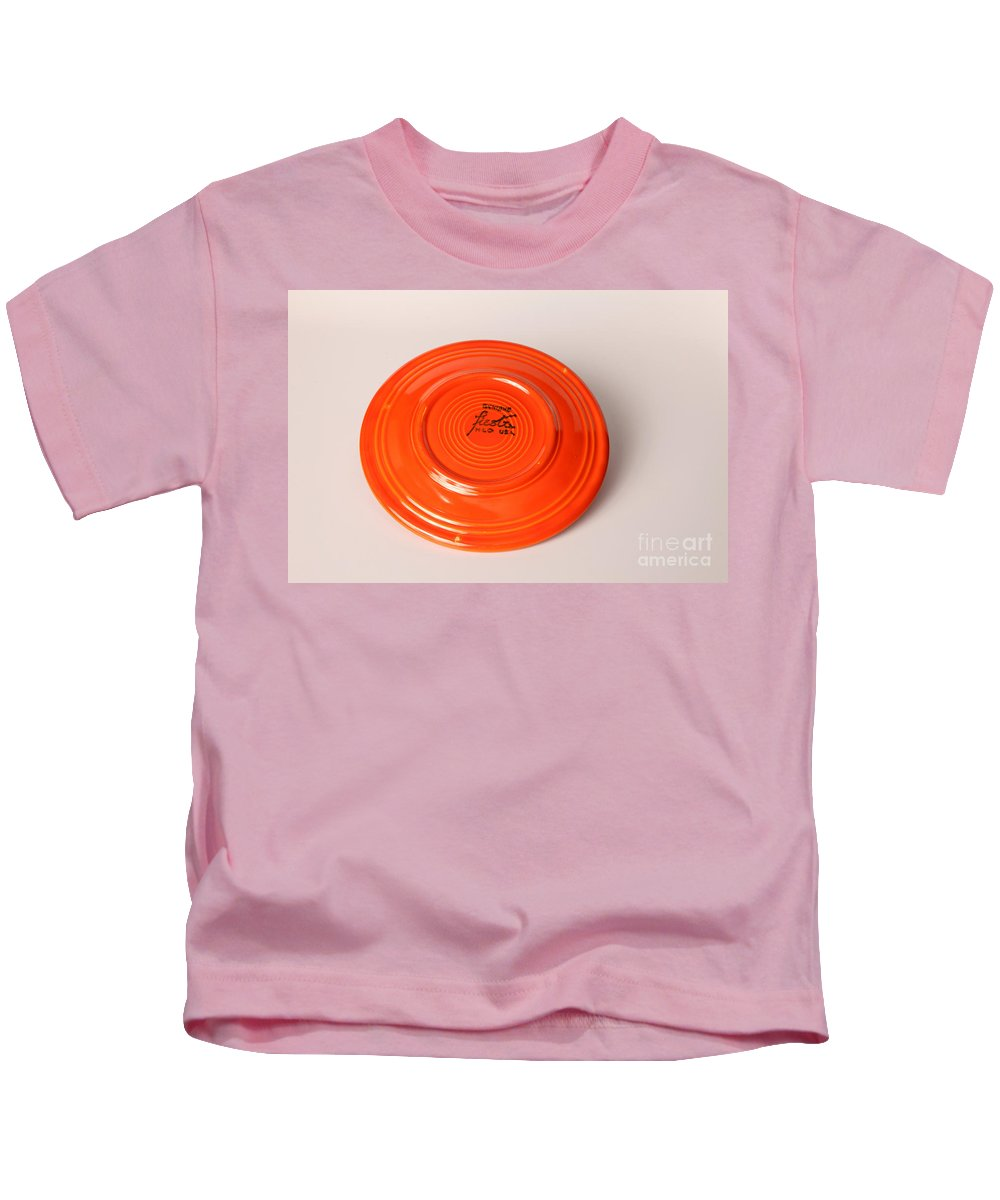 Uranium Kids T-Shirt featuring the photograph Radioactive Ceramic Plate by Ted Kinsman