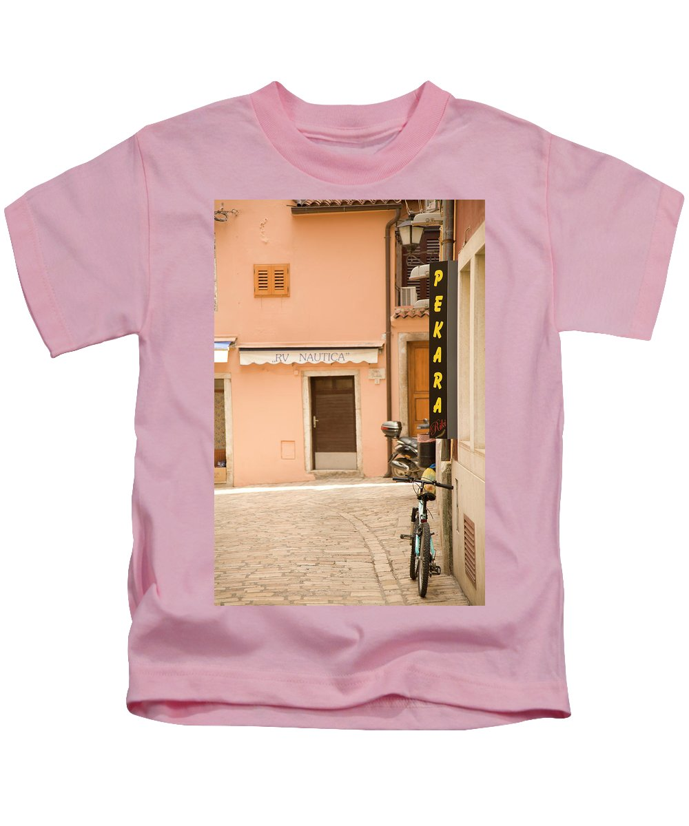 Croatia Kids T-Shirt featuring the photograph Rovinj by Ian Middleton