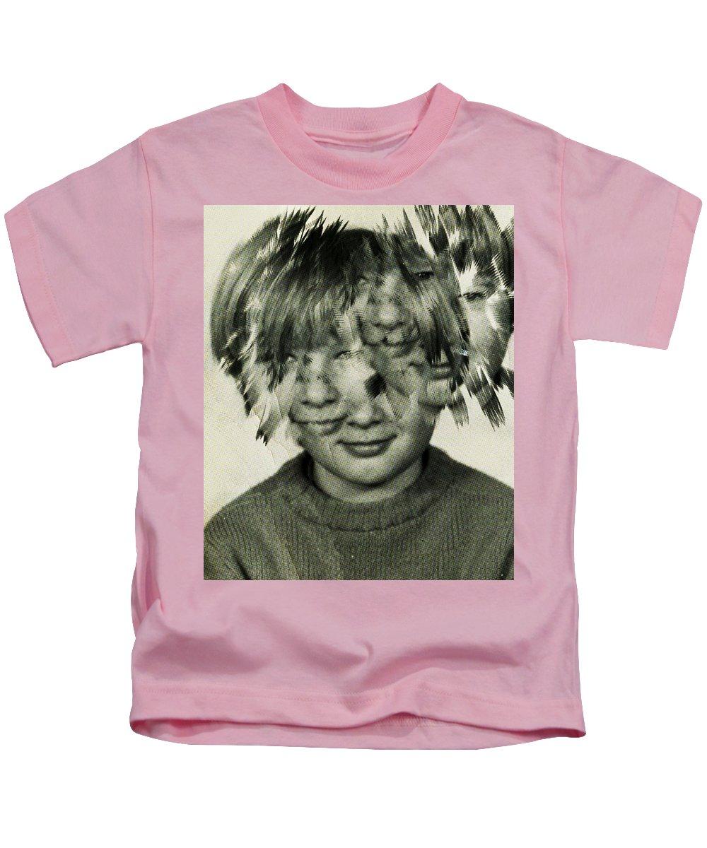 Self Portrait Kids T-Shirt featuring the painting Self Portrait by Maciej Mackiewicz