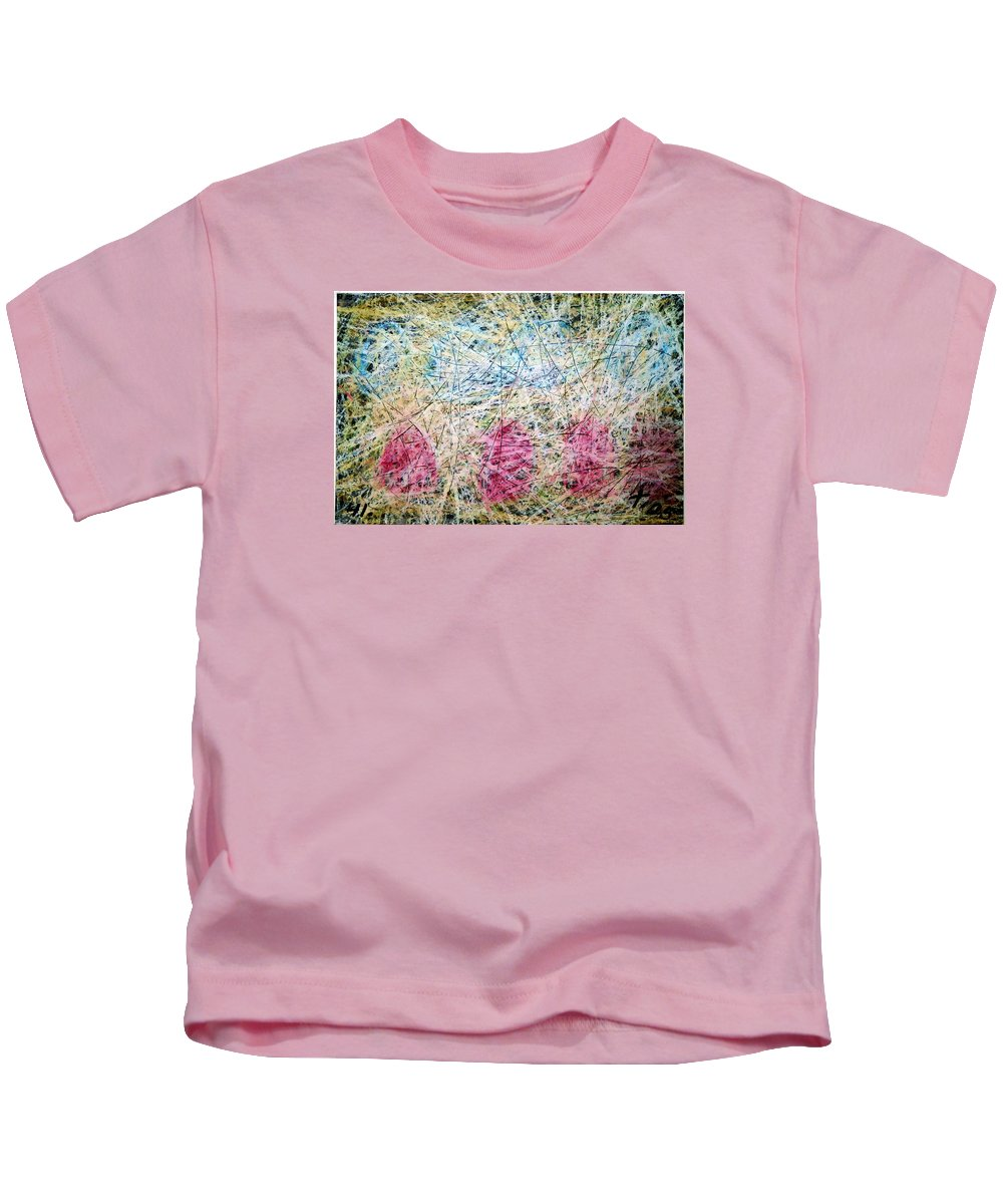 Kids T-Shirt featuring the painting 41 by Terry Wiklund