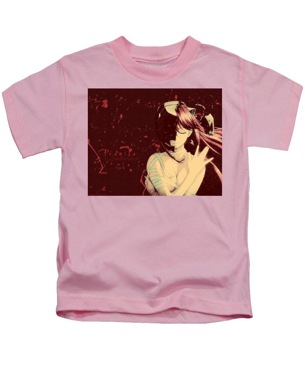 Elfen Lied Hd S Kids T-Shirt featuring the digital art 6812 Elfen Lied Hd S by Rose Lynn