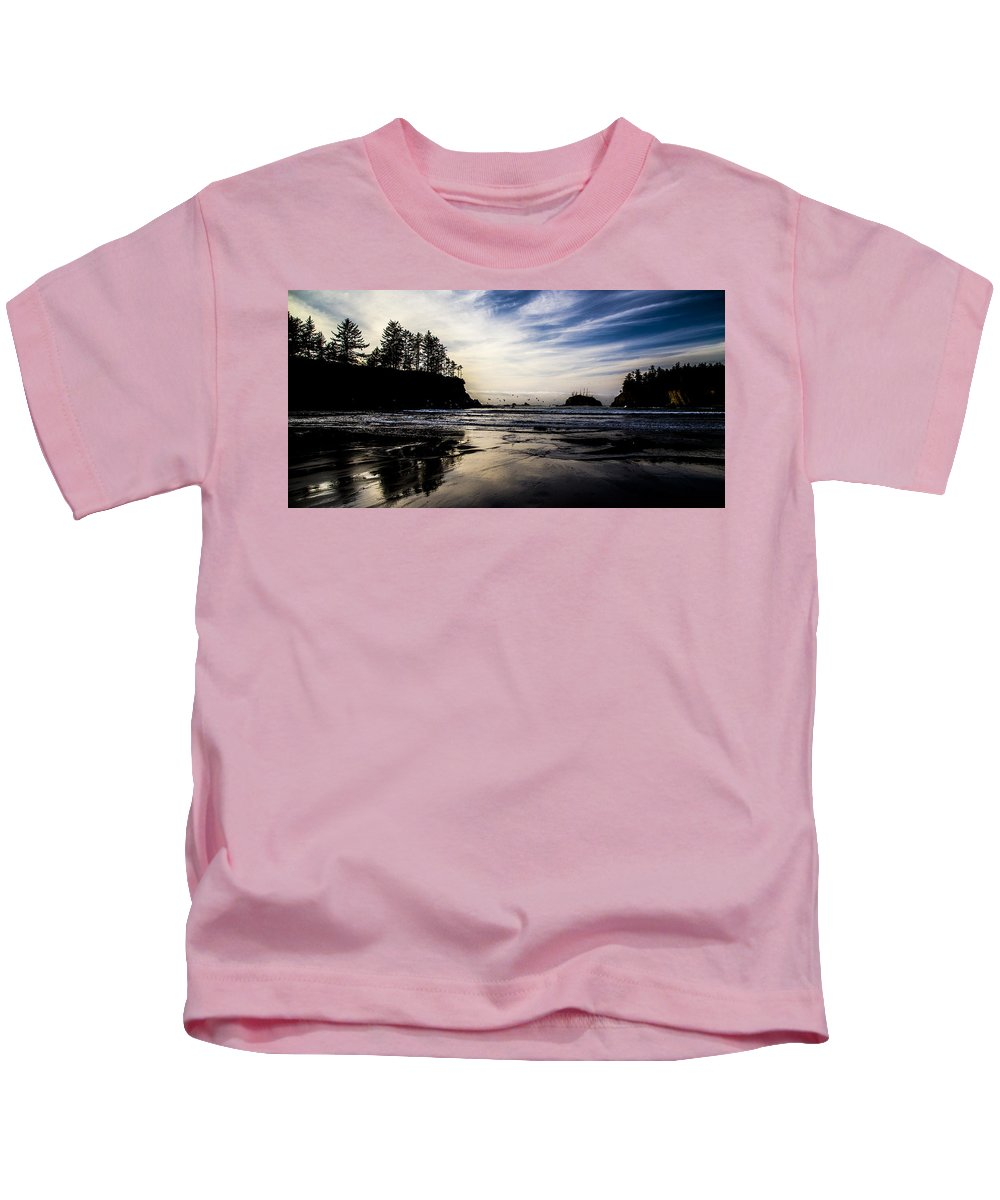 Kids T-Shirt featuring the photograph Sunset Beach by Angus Hooper Iii